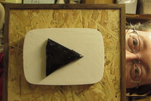Playbutton made from Petrified Wood – Wards off Thumbs down!