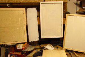 Whiteboard from old Fridge Shelves – 4 Versions
